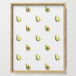 'ave an Avo! - White Print Serving Tray