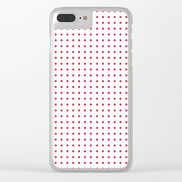 Red Polka Dots Clear iPhone Case