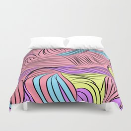 Seuss-y Cartoon Lines Duvet Cover