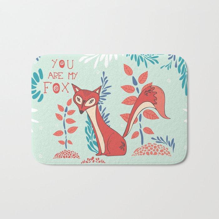 You are my Fox Bath Mat