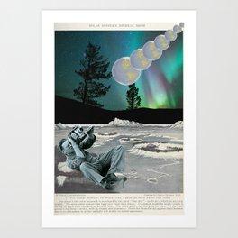Moon to Earth Art Print