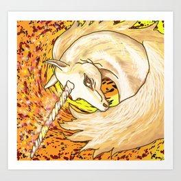 Otherworld Unicorns 6: Autumn Ether Art Print