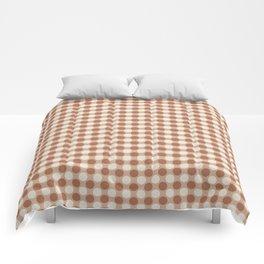 Cavern Clay SW 7701 and Creamy Off White SW7012 Medium Circle Polka Dot Pattern 8 Ligonier Tan SW 77 Comforters