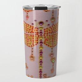 Dragonfly in Pink Travel Mug