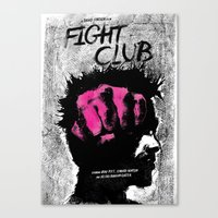 tyler durden Canvas Prints featuring Tyler Durden by Dan K Norris