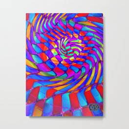 Tumbler #34 Trippy Psychedelic Optical Illusion Design by CAP Metal Print