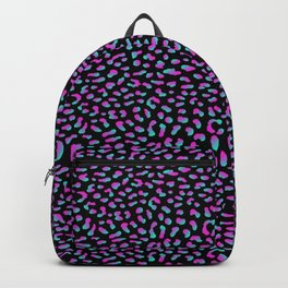 Psychedelic Purple Leopard Backpack