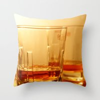 whiskey Throw Pillows featuring Whiskey by Vishal Wadhwani