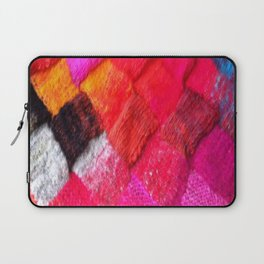 Red Entrelac Laptop Sleeve