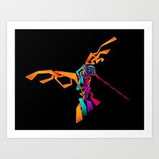 huitzilin tlahuilli - colibri - hummingbird Art Print