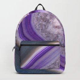 Purple agate #3089 Backpack