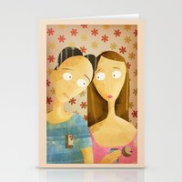 lovers Stationery Cards featuring Lovers by gazonula