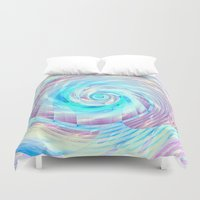 cycle Duvet Covers featuring Spin cycle  by Truly Juel