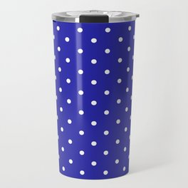 Dotted (White & Navy Pattern) Travel Mug