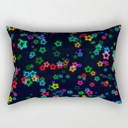 Colorful Neon Star Rectangular Pillow