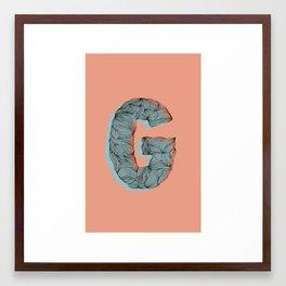 """""""G"""" Doodle Framed Art Print"""
