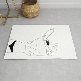 Fashion illustration line drawing - Cadee Rug
