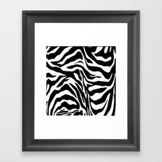 Zebra Print Framed Art Print