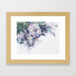 secret behind flowers Framed Art Print