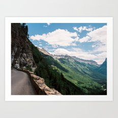 Going to the sun road  Art Print