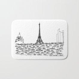 Paris skyline Bath Mat