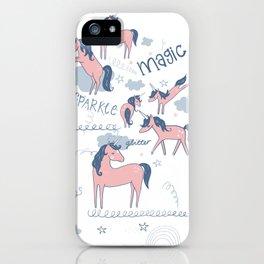 Unicorn hills iPhone Case
