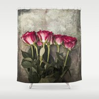 roses Shower Curtains featuring Roses by Maria Heyens