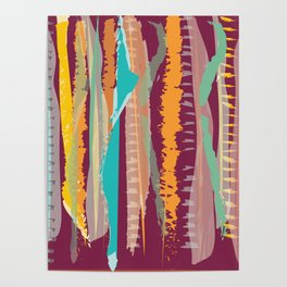 Strokes of colors Poster