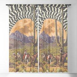 Illusionary Cowboys Sheer Curtain