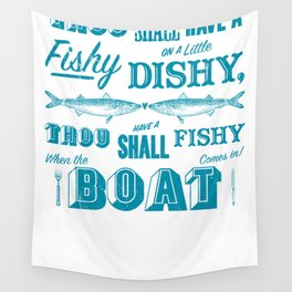 Typographic Sea Shanty Wall Tapestry