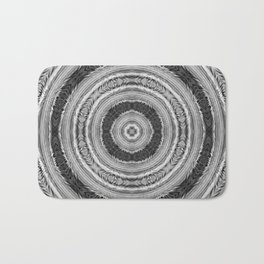 315 - Black and White Abstract Orb design Bath Mat