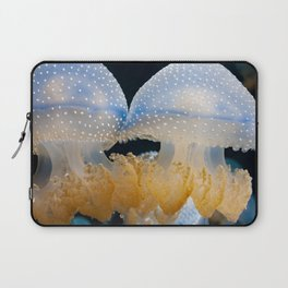 Double Blue Jellyfish - Underwater Photography Laptop Sleeve