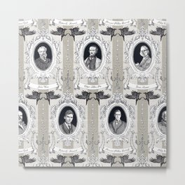 My favorite Authors Toile de Jouy Metal Print