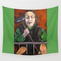 mercedes Wall Tapestries featuring Misery by Portraits on the Periphery