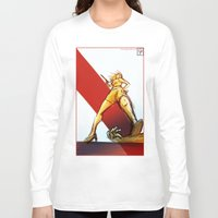 kindle Long Sleeve T-shirts featuring Femme Fatale by garciarts