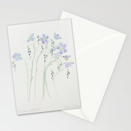 Blue Flax Stationery Cards