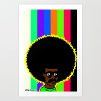 afro Art Prints featuring AFRO by watsonpablov