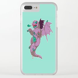 Zombie Dragon Clear iPhone Case
