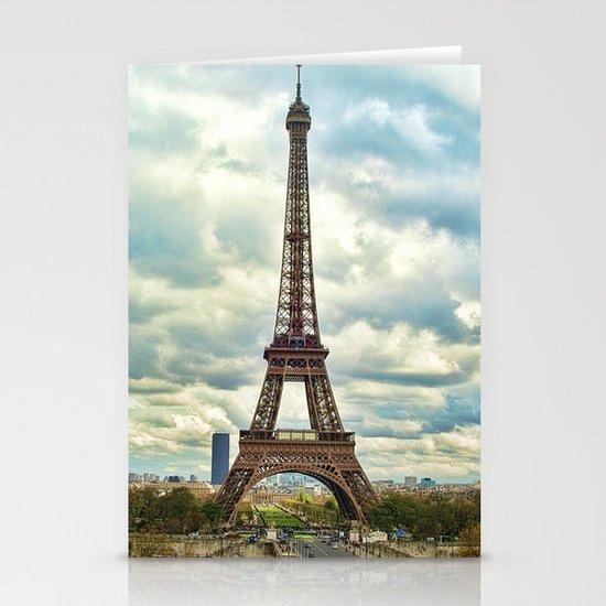Dramatic Eiffel  Stationery Cards