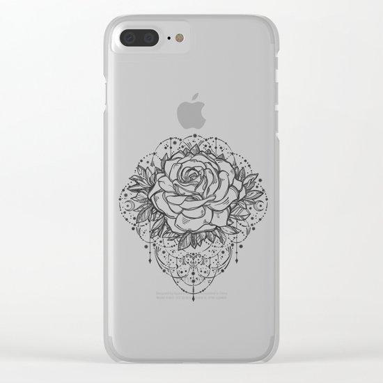 Night Rose Clear iPhone Case