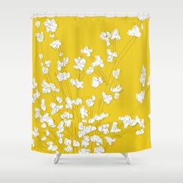 Bright Forsythia Shower Curtain