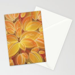 Warm Golden Autumn Flowers Stationery Cards