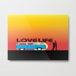Love Life - Surf Van Metal Print