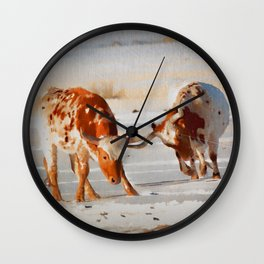 Texas Longhorns Wall Clock