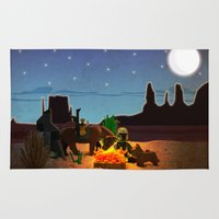 camping Area & Throw Rugs featuring Camping by plopezjr
