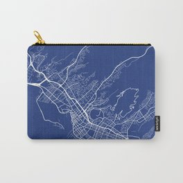 Honolulu Map, USA - Blue Carry-All Pouch