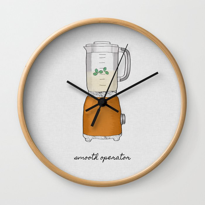Smooth Operator, Kitchen Print Wall Clock
