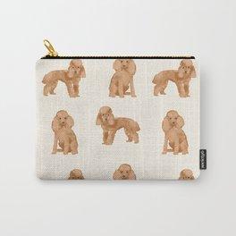 Toy Poodle apricot coat dog breed pet portrait dog breeds poodles Carry-All Pouch