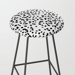 Nadia - Black and White, Animal Print, Dalmatian Spot, Spots, Dots, BW Bar Stool