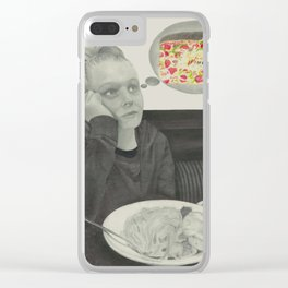 I crave pizza wall art, Black and White, Pencil drawing, Fine art prints, Prints illustrations Clear iPhone Case